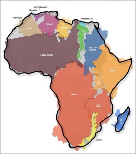 Size Of Africa