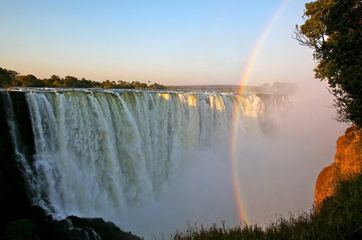 zimbabwe victoria falls rainbow