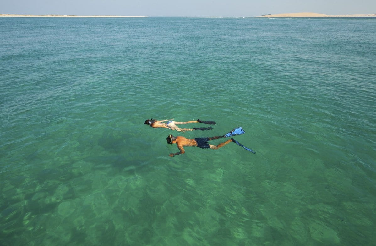 Azura Benguerra snorkelling at reef 4