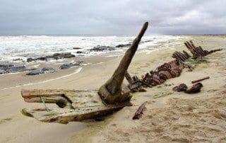 Shipwreck in Skeleton Coast, Namibia
